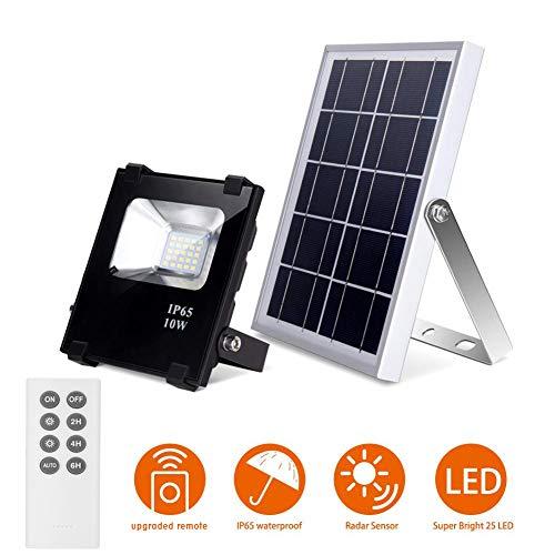 Solar-Flutlicht mit Fernbedienung LED Solarleuchte 25 LEDs Wasserdicht Solar-Sicherheitsleuchte Dämmerung bis Morgendämmerung Außenbeleuchtung Solarpanel Licht für Hof, Garten, Terrasse