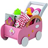 Little Surprise Box New Born Baby Girl Hamper With Wooden Pram (Pink)
