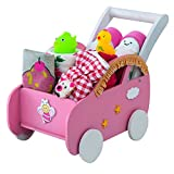Little Surprise Box New Born Baby Girl Hamper with Wooden Pram (Pink)