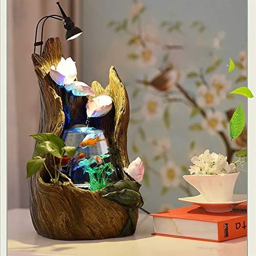BEITAI Aquarium Wonderland FishTank Baum hohlen Brunnen mit Licht Desktop Büro Dekoration Indoor Herzstück Geschenk wie Tischlampe (Farbe : C180730042) (Herzstück Baum)