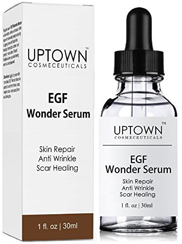 Anti Wrinkle & Acne Scar Removal Egf Wonder Serum From Uptown Cosmeceuticals, Best Skin Repair And Healing Peptide Helps Diminish The Appearance Of Scars, Wrinkles, Burns, And Dark Spots Visibly, 30m L