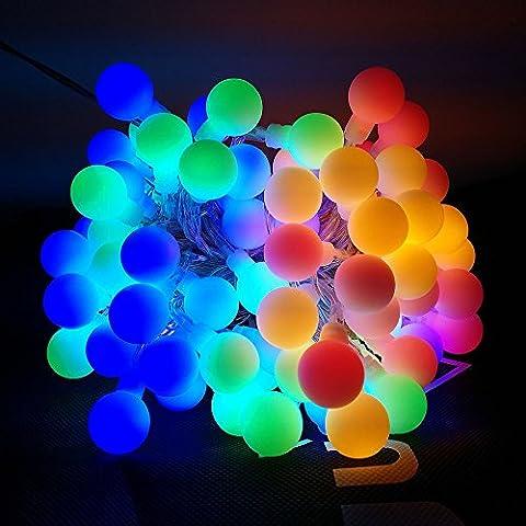 LUXJET 10M 100er Globe LED Lichterkette,Bunt Glühbirne Lichterkette für Weihnachten, Hochzeit, Party, Zuhause,Garten, Terrasse, Fenster, Treppe, Bar Dekor