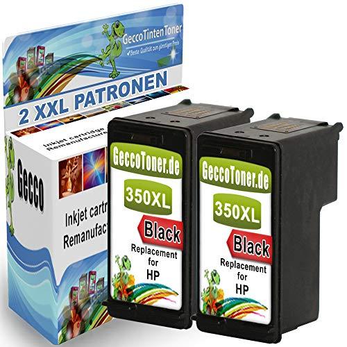 Spetan 2x Druckerpatrone ersetzt Hp 350 XL Schwarz für HP Photosmart C5280 C4480 C4280 C4200 C4400 C4380 C4340, Hp Deskjet D4260 D4360, Officejet J5785 J5730 J5780 (Hp C4250 Photosmart)