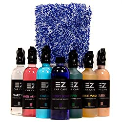 Essential Car Cleaning Kit: Perfect for Bodywork, Wheels and Interiors Polishing and Wax + Valeting Gift Set