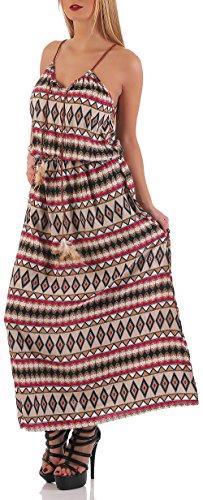 malito élégant Maxi-Robe dans le moderne Design 037-28 Femme Taille Unique Beige