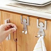 Transer cocina baño estante de almacenamiento armario para colgar percha  gancho de acero carbono pecho armario c932781677c6