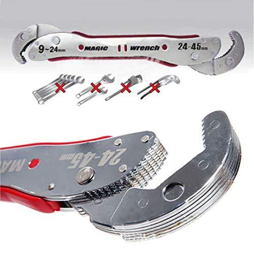 MongGood Verstellbarer Magic Maulschlüssel Multifunktions-Schraubenschlüssel Universalschlüssel Rohr Heimwerkzeug, 9-45 mm