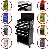 Dirty Pro ToolsTM LARGE TOOL TOP CHEST CABINET TOP BOX AND ROLLCAB BOX MECHANICS TOOL CHEST WITH US BALL BEARING SLIDES - Black Colour