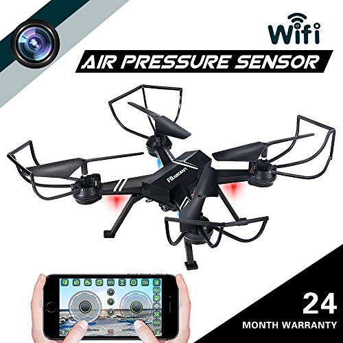 Drone with Camera for Adults, JoyGeek FPV RC Quadcopter with Wifi Live Video Altitude Hover Trajectory Flight 3D VR 2.4GHz 6Axis Gyro Headless Mode iPhone & Android APP Remote