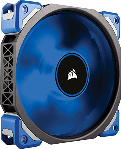 140 Single (Corsair ML120 Pro LED PC-Gehäuselüfter (120mm, mit Premium Magnetschwebetechnik, blaue LED, Single Pack) schwarz/blau)