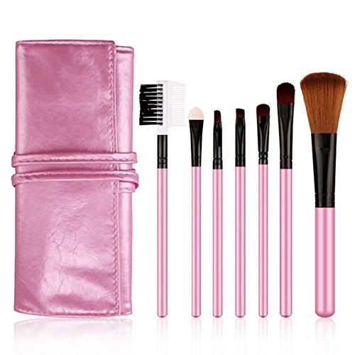 Demarkt Professionnel 7pcs/Set Pinceaux de Maquillage Brush Cosmétique Make Up Brush Pinceau Cosmétique (rose)