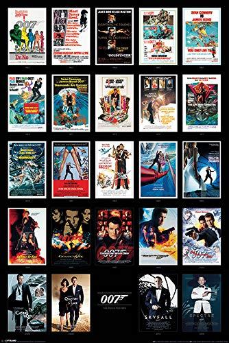 James Bond PP33726 (Movie Maxi Poster, Bois Dense, Multicolore, 61 x 91,5 cm