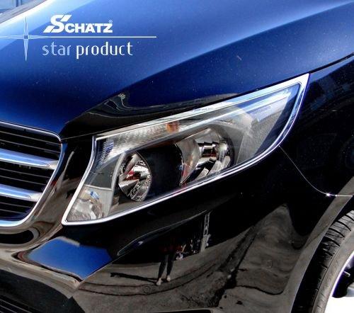 Chrom Scheinwerferrahmen für Mercedes Benz V-Klasse/Vito W447 ab 10/2014