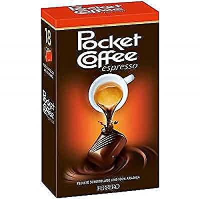 FERRERO Pocket Coffee Espresso, 18 pcs (225g) from Pocket Coffee