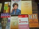 Lot de 7 livres : Ma médecine naturelle - Le ginseng - la lécithine de Soja - 101 conseils pour vous soigner par l' Homéopathie - 100 réflexes Aromathérapie - Homéo femme -