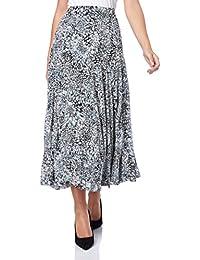 Roman Originals Women's Floral Burnout Print Skirt