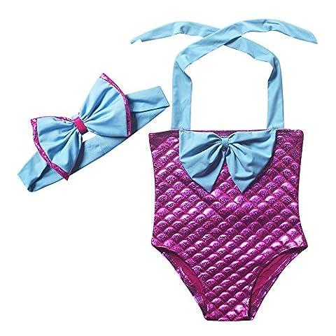Lonchee jolie fille sirène maillot de bain maillot de bain