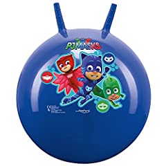 Idea Regalo - John- Sprungball PJ Masks-Bedruckter Hopperball, Hüpfball, Springball, Hopper Ball Drinnen & Draußen-wiederaufblasbar, Robust-Fitness für Kinder 59005 Palla per Saltare, Colore Blau