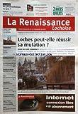 RENAISSANCE (LA) [No 3330] du 12/01/2011 - LOCHES PEUT-ELLE REUSSIR SA MUTATION - DU PHOTOVOLTAIQUE OU PAS - LA CENTRALE A TAUXIGNY - COURSE A PIED / LES TENORS EN EXERGUE - MURS / UNE AGRICULTURE INNOVANTE...