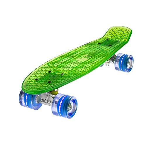 Ridge Skateboard Mini Cruiser, Grün/Blau, One size, BLAZE-GREEN-BLUE