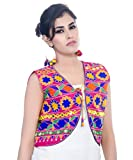 #8: Banjara India Kutchi Short Jacket (Floral) - Pink