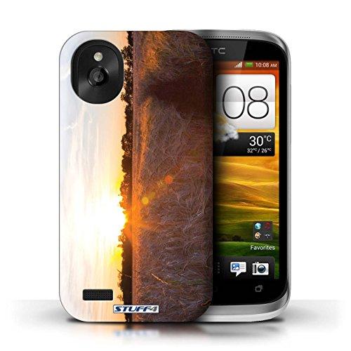 Kobalt® Imprimé Etui / Coque pour HTC Desire X / limite forestière conception / Série Coucher du Soleil Récolte