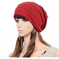 HAOLIEQUAN Cappello da Donna con Cappello da Sci Invernale in Maglia di  Nuovo Stile 153fbc417775