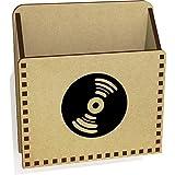 Azeeda 'Schallplatte' Hölzern Brief Halter / Box (LH00029487)