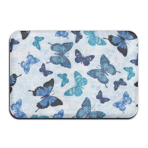Sacs Bleu Papillons Mode Absorbant antidérapant Tapis de Porte Tapis de Sol