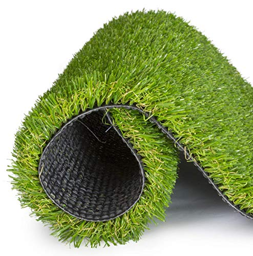 SavvyGrow Künstlicher Rasen für Hunde, in 4 Farbtönen erhältlich, leicht zu reinigen mit Abflusslöchern - Fake Astro Rasen Hundematte - ungiftig für Haustiere (verschiedene Größen) (43 x 61 cm)