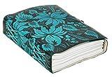 Gusti Products carnet livre bloc-notes journal intime cahier journal de bord cahier à dessin format B5 homme femme cuir de vachette bleu 2P46-24-20