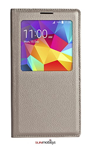 Sun Mobisys Samsung Galaxy Grand Prime Flip Cover; Premium Faux Leather For Allround Protection Phone Casechampagne Gold  available at amazon for Rs.149