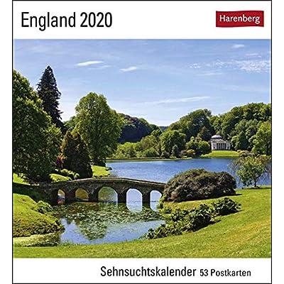 England 2020: Sehnsuchtskalender, 53 Postkarten