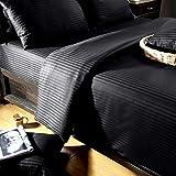 Homescapes 3 teilige Damast Bettwäsche 240x220 cm schwarz 100% ägyptische Baumwolle Fadendichte 330
