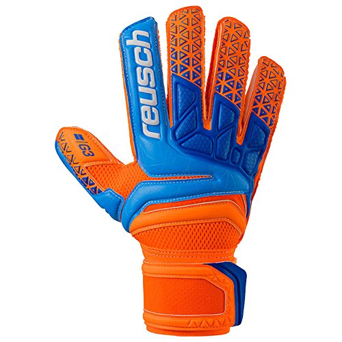 Reusch Herren Prisma Prime G3 Torwarthandschuh, Shocking orange/Blue, 9.5