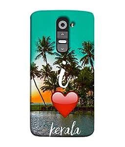 PrintVisa Designer Back Case Cover for LG G2 :: LG G2 Dual D800 D802 D801 D802TA D803 VS980 LS980 (Tall Palm Trees river side of Kerala)