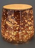Unbekannt Windlicht Teelichthalter Glas Kupfer 12 cm hoch von Kaheku Weihnachtsdekoration Weihnachten