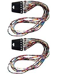 F Fityle Cordón Plano para Gafas de Sol Lentes Hecho de Algodón 70 cm Largo (10 Unidades)