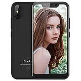 """Blackview A30 Telephone Portable Debloqué, Smartphone Aout écran 5.5 """" (19: 9) Android 8.1 Oreo avec 5MP Avant + 8MP Caméras arrière, 2Go + 16Go, 2500mAh Batterie, Visage ID, Nano Sim, 3G Telephone Pas Cher Noir"""