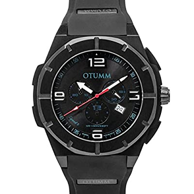 Otumm Speed II Black 005 - Reloj de pulsera unisex (53 mm), color negro de Otumm
