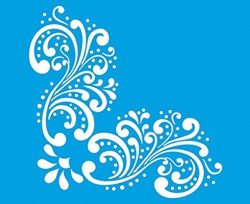 21cm x 17cm reutilizable plantilla Flexible de plástico para diseño de gráfico aerógrafo para decorar pared muebles tela decoraciones de dibujo redacción plantilla-flores hojas Ornamento