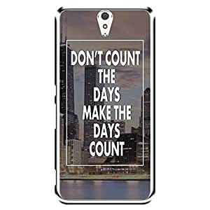 "MOBO MONKEY Designer Printed 2D Transparent Hard Back Case Cover for ""Sony Xperia C5 Dual"" - Premium Quality Ultra Slim & Tough Protective Mobile Phone Case & Cover"