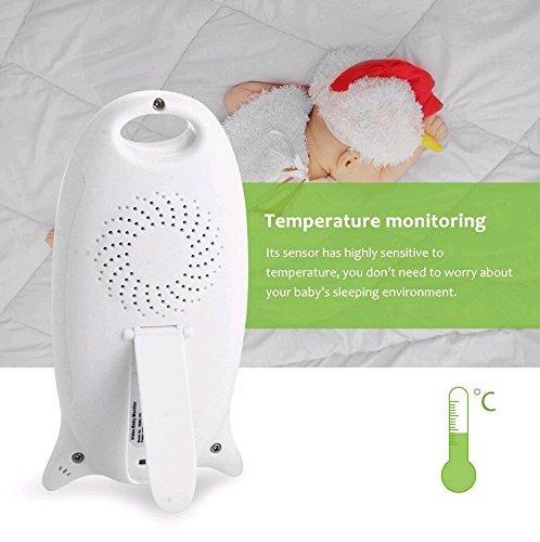 Babyphone mit Kamera Baby Überwachung Digital dual Audio Funktion wireless Baby Monitor (Temperatursensor, Schlaflieder, Nachtsicht, Gegensprechfunktion), 2.0 Zoll LCD - 5
