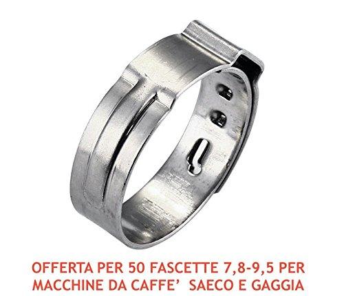 50SCHLAUCHSCHELLE Edelstahl 7,8–9,5mm Typ Oetiker für Saeco und Gaggia