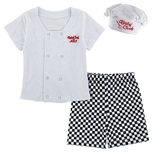 Koch Kostüm Kurz Kleidung Set mit Hut (Koch, 12-18 Monate) (Baby-junge Halloween-kostüme 12-18 Monate)