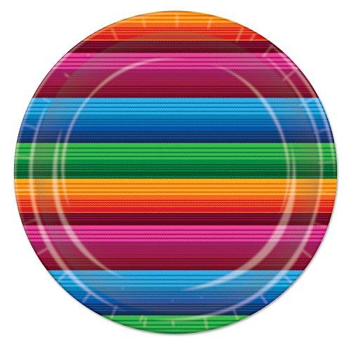 Beistle Fiesta Teller, 22,9cm farbenreiche