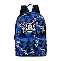 OFFICIAL PAUL FRANK JULIAS MONKEY CAMOUFLAGE FRONT POCKET LARGE BACKPACK BAG NEW