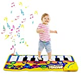 Klaviermatte, Kinder Musikteppich Musik Matten Baby Früherziehung Musik Singen Piano Floor Musical Spielzeug für Kinder Geschenk (Gelb)