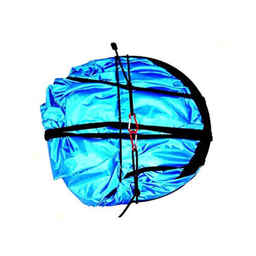 WINOMO 42 Zoll Wind Segel Portable DownWind Popup Segel für Kajak Kanu Paddel Windsurfen (blau)