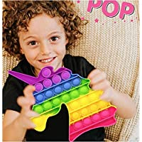 Prime Rainbow Pop It Push Pop Silicone Bubble Fidget Square Sensory Toy Stress Relief Toy for Kids and Adults Pack of 1